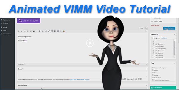 VIMM Video Tutorial