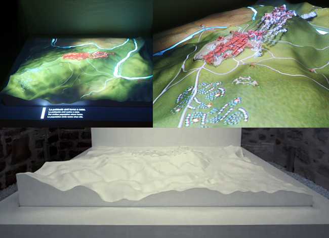 Mappings on models as great storytelling tools: the 1711 siege of the Castle of Cardona