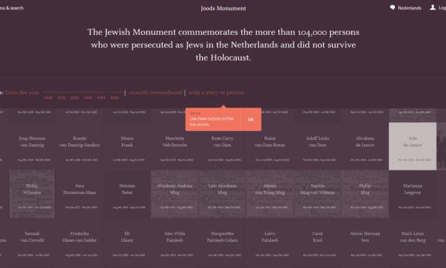 Virtual storytelling – The Jewish Monument