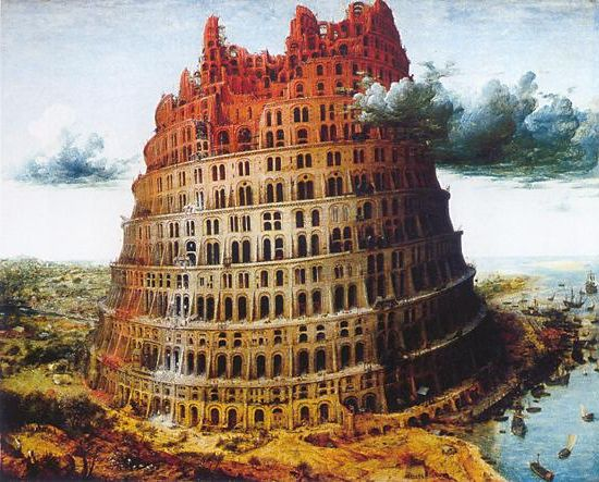 The Tower of Babel (circa 1568) by Pieter Bruegel the Elder Museum Boijmans Van Beuningen