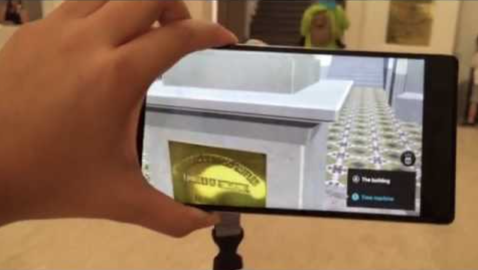 Augmented Reality used to reveal the history of the National Museum of Singapore.
