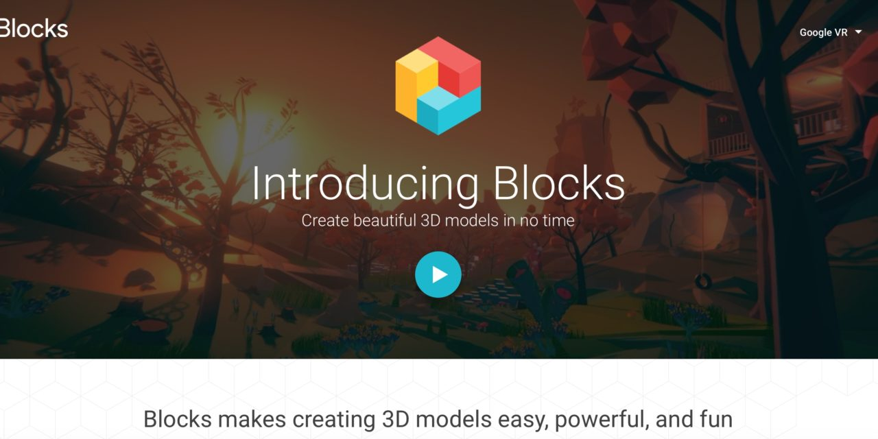 Google Blocks – 3D models in VR