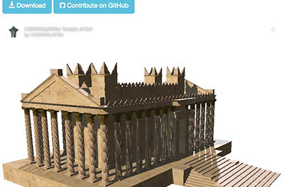 Using Three-Dimensional Modeling to Preserve Cultural Heritage