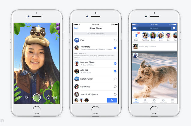 Facebook Adds New Camera and Snapchat-Like Features