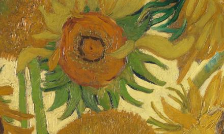 Van Gogh Sunflowers Live