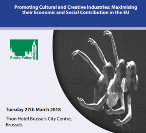 Promoting Cultural and Creative Industries: Maximising their Economic and Social Contribution in the EU @ Thon Hotel