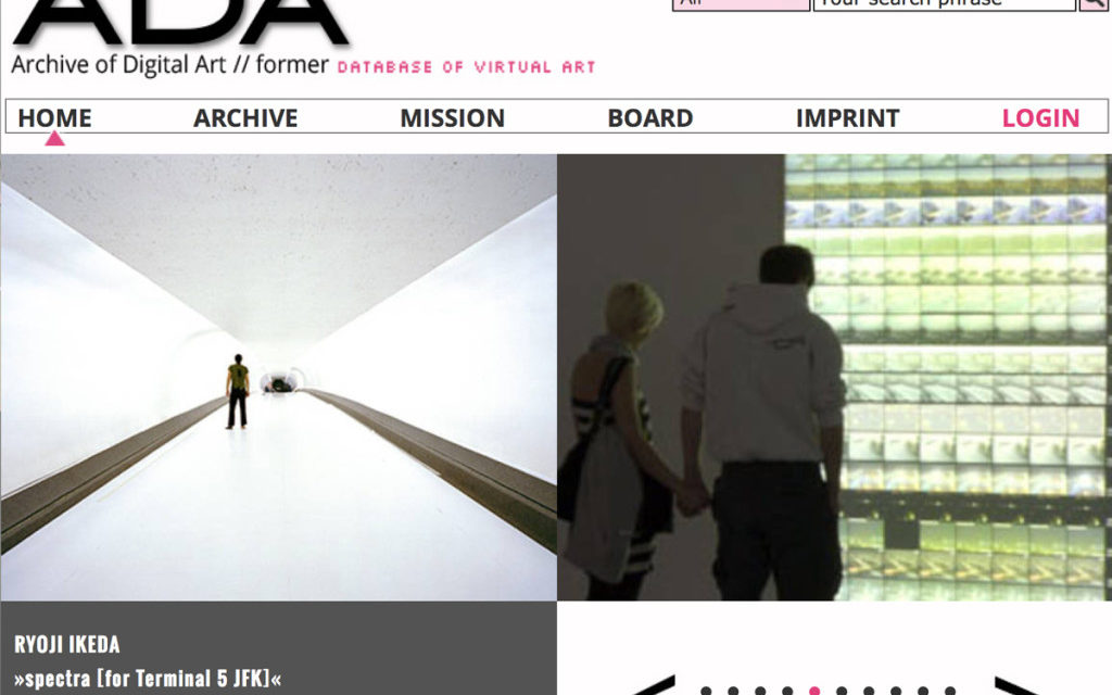 The Archive of Digital Art (ADA)