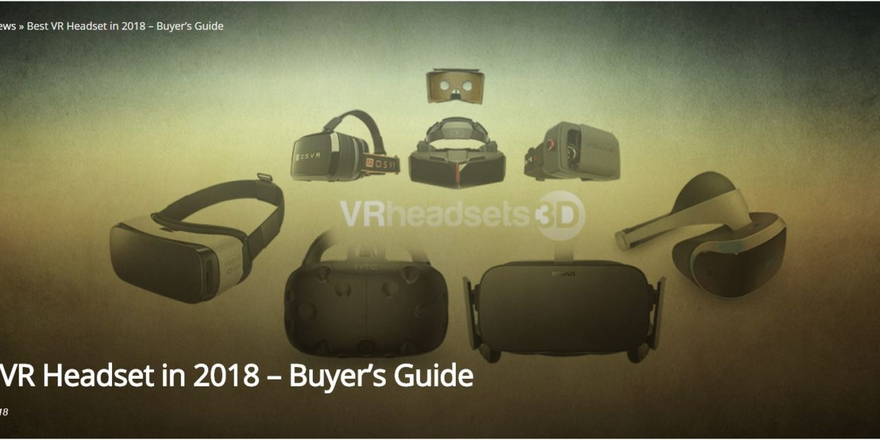 Best VR Headset in 2018 – Buyer's Guide