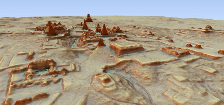 A new Maya city of 60.000 buildings discovered in Mexico under the jungle