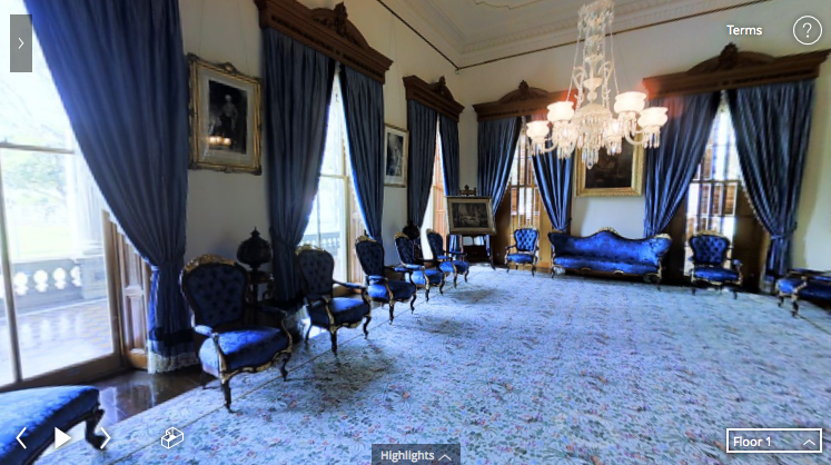 A virtual tour in the Iolani Palace with the help of Virtual Reality