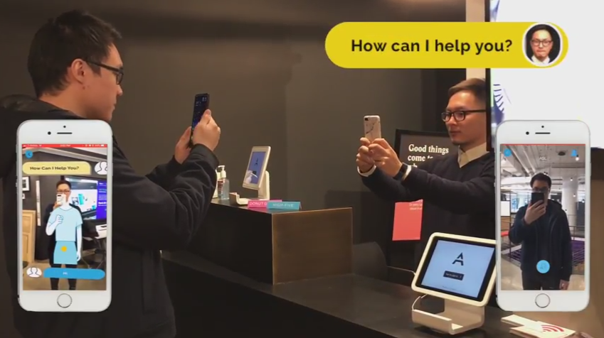 AR helping people understand sign language