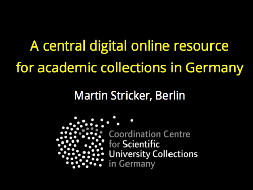Concerted Action – coordination of university collections throughout Germany