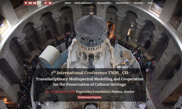 1st International Conference on Transdisciplinary Multispectral Modelling and Cooperation for the Preservation of Cultural Heritage