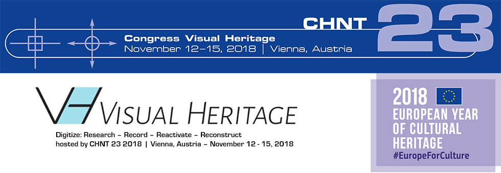 Visual Heritage 2018, Cultural Heritage and New Technologies