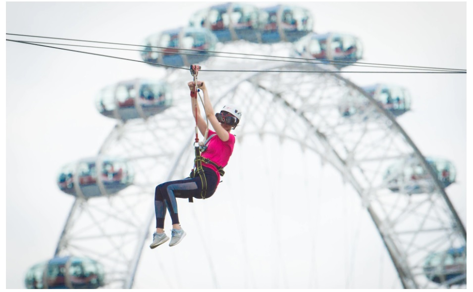 What it's like to ride the world's first augmented reality zipwire