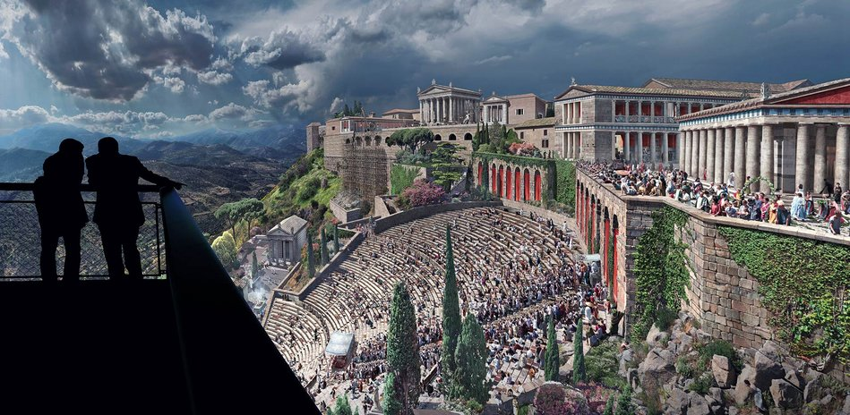 PERGAMON. Masterpieces of the ancient metropolis with a 360° panorama by Yadegar Asisi