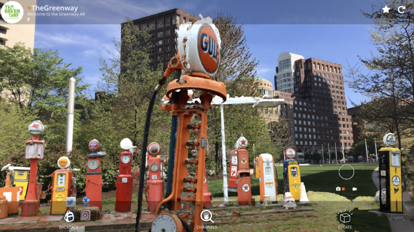 Boston's Rose Kennedy Greenway: One Of The Largest AR Exhibits In North America